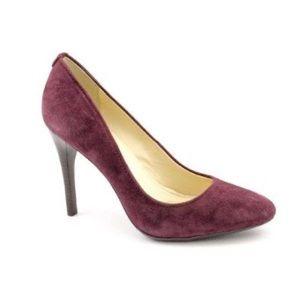 Calvin Klein Purple Suede Whinnie Pumps / Heels